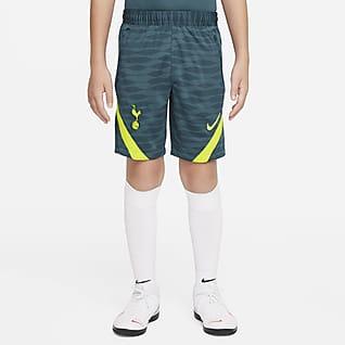 Tottenham Hotspur Strike Nike knit voetbalshorts met Dri-FIT voor kids