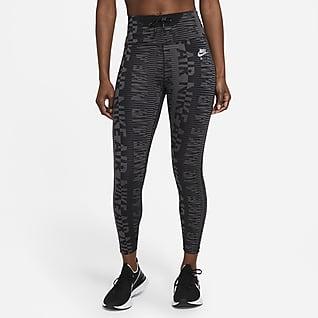 Nike Air Epic Fast Højtaljede løbeleggings i 7/8-længde med print til kvinder