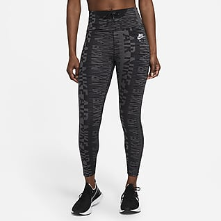 Nike Air Epic Fast Löparleggings i 7/8-längd med hög midja och tryck för kvinnor