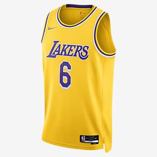 Los Angeles Lakers Diamond Icon Edition เสื้อแข่ง Nike Dri-FIT NBA Swingman