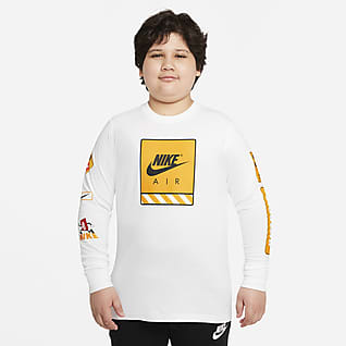 Nike Sportswear Playera de manga larga para niños talla grande (talla extendida)