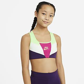 Nike Swoosh Sujetador deportivo para niñas talla grande