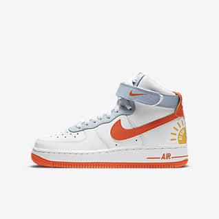 nike high top white shoes