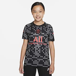 Paris Saint-Germain Nike Dri-FIT Genç Çocuk Maç Öncesi Futbol Üstü