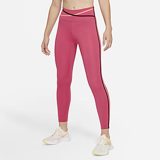 Nike Dri-FIT One Leggings a 7/8 e vita media con profilo - Donna
