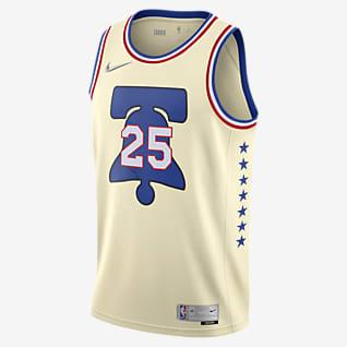 Ben Simmons 76ers Earned Edition Men's Nike NBA Swingman Jersey