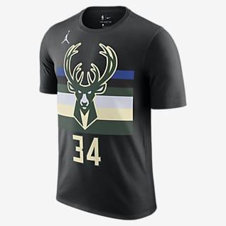 Giannis Antetokounmpo Bucks Statement Edition Men's Jordan NBA T-Shirt