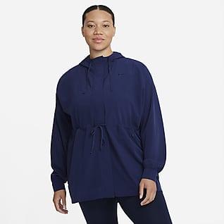 Nike Dri-FIT Bliss Luxe Chamarra anorak para mujer de talla grande