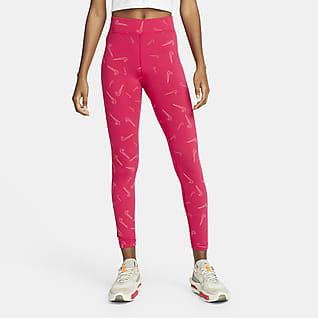 Nike Sportswear Leggings estampadas de cintura subida para mulher