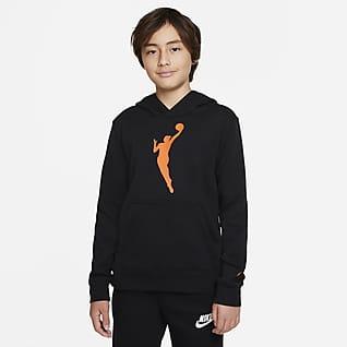 WNBA Essential Flísová mikina skapucí pro větší děti