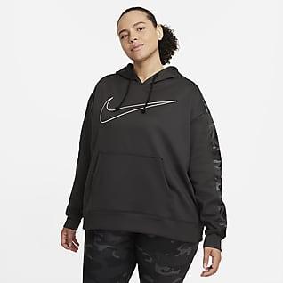 Nike Therma Sudadera con gorro sin cierre para mujer (talla grande)