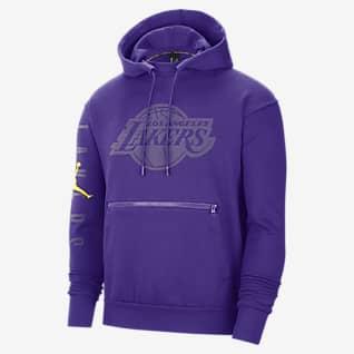 Los Angeles Lakers Courtside Statement NBA-huvtröja i fleece för män