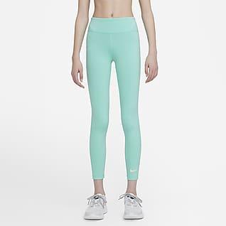 Nike One Trainingslegging met hoge taille voor meisjes