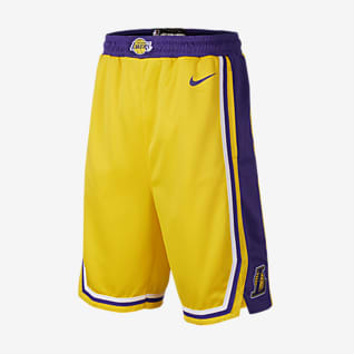 洛杉矶湖人队 Icon Edition Nike NBA Swingman 大童(男孩)短裤