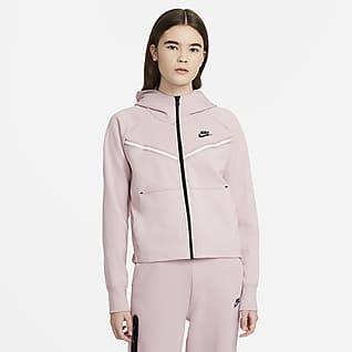 Nike Sportswear Tech Fleece Windrunner Tam Boy Fermuarlı Kapüşonlu Kadın Üstü
