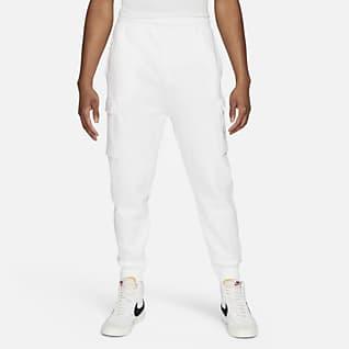 Nike Sportswear Court Calças cargo de lã cardada para homem