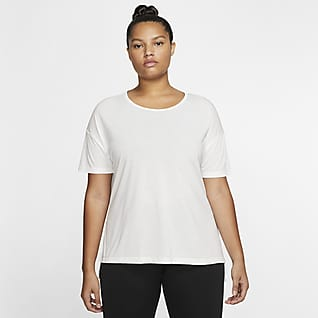 Nike Yoga Camiseta de manga corta para mujer (talla grande)