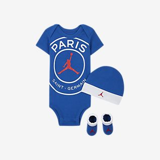 Paris Saint-Germain Σετ με ολόσωμο κορμάκι, σκούφο και καλτσάκια για βρέφη