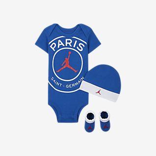 Paris Saint-Germain Sæt med body, hue og booties til babyer