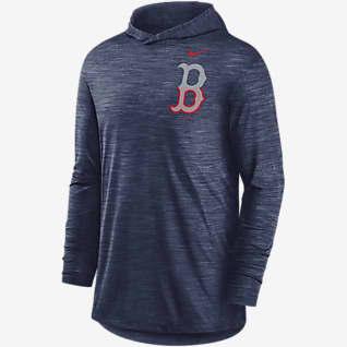 Nike Dri-FIT Split Logo (MLB Boston Red Sox) Men's Long-Sleeve Hooded Top
