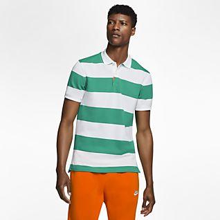 polo nike homme orange et vert