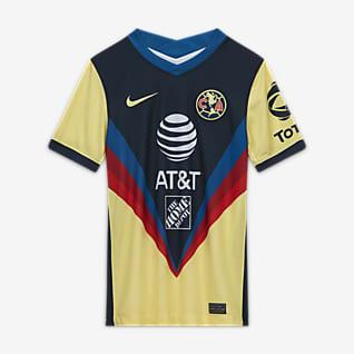 Club América 2020/21 Stadium de local Camiseta de fútbol para niños talla grande