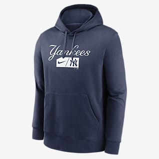 Nike Lettering Club (MLB New York Yankees) Men's Pullover Hoodie
