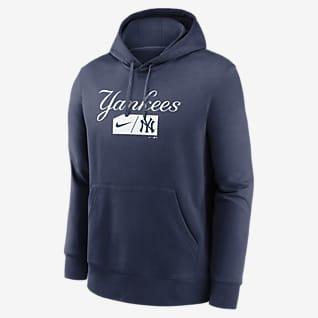 Nike Lettering Club (MLB New York Yankees) Sudadera con gorro sin cierre para hombre
