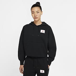Jordan Flight Pulloverhættetrøje i fleece til kvinder