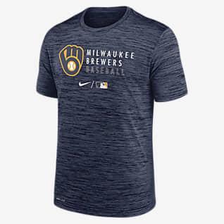 Nike Dri-FIT Velocity Practice (MLB Milwaukee Brewers) Men's T-Shirt
