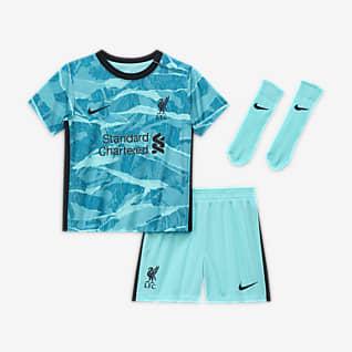 Выездная форма ФК «Ливерпуль» 2020/21 Футбольный комплект для малышей