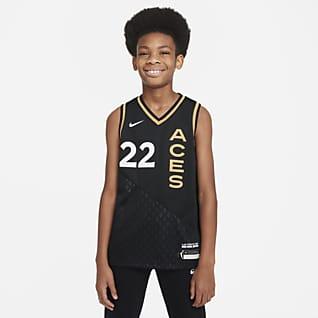 A'ja Wilson Aces Rebel Edition Maillot Nike Dri-FIT WNBA Victory pour Enfant plus âgé