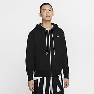 Nike Dri-FIT Standard Issue Hosszú cipzáras kapucnis férfi kosárlabdás pulóver