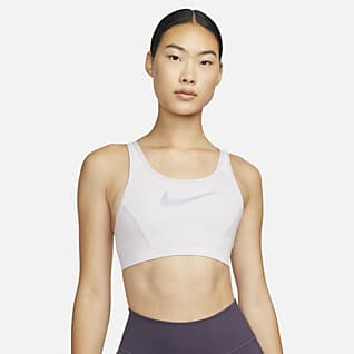 Nike Dri-FIT Swoosh Femme 女款中度支撐型單片式襯墊大 U 背運動內衣