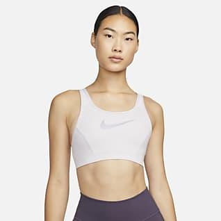 Nike Dri-FIT Swoosh Femme Women's Medium-Support 1-Piece Pad Scoop-Back Sports Bra