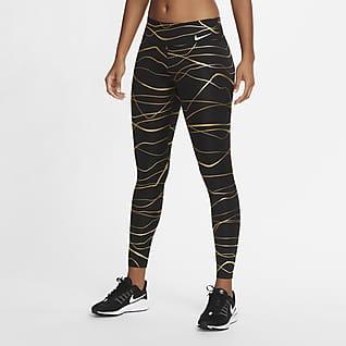 Nike Icon Clash Fast เลกกิ้งวิ่งเอวปานกลางผู้หญิง