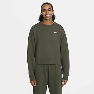 Nike Sportswear Essential Dámská flísová mikina s kulatým výstřihem