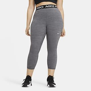 Nike Pro Leggings cropped de tiro medio para mujer (talla grande)