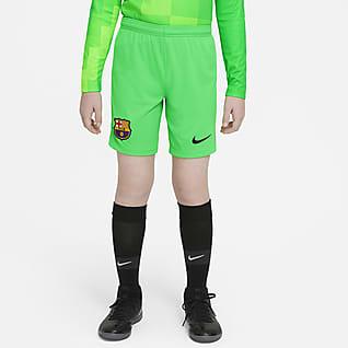 FC Barcelona 2021/22 Stadyum Kaleci Genç Çocuk Futbol Şortu