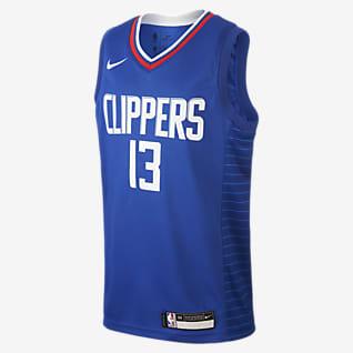 Paul George Clippers Icon Edition Koszulka dla dużych dzieci Nike NBA Swingman