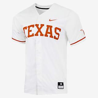 Nike College (Texas) Men's Full-Button Baseball Jersey