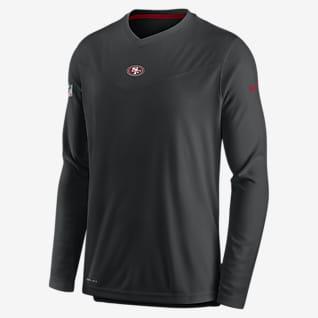 Nike Dri-FIT Sideline Coaches (NFL San Francisco 49ers) Men's Long-Sleeve V-Neck T-Shirt