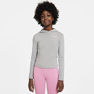 Nike Dri-FIT Trophy Big Kids' (Girls') Hooded Long-Sleeve Top