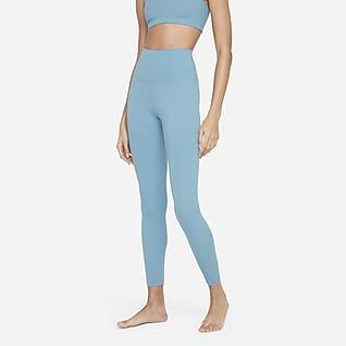 Nike Yoga Женские слегка укороченные леггинсы с высокой посадкой