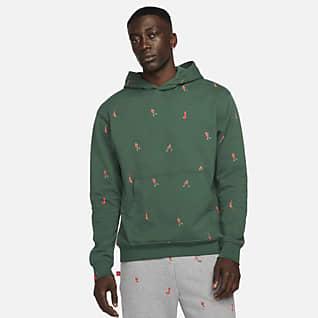 Jordan Essentials Sudadera con gorro sin cierre de tejido Fleece para hombre