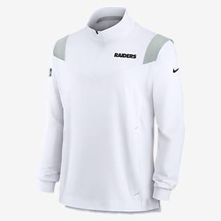 Nike Sideline Coaches Repel (NFL Las Vegas Raiders) Chamarra con cierre de 1/4 para hombre