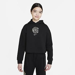 Nike Sportswear Frottéhettegenser til store barn (jente)