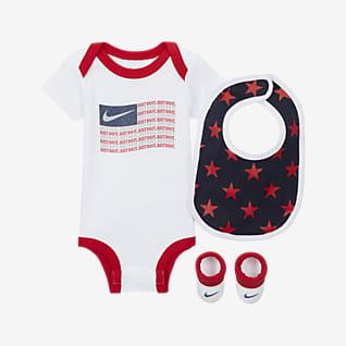 Nike Conjunto de body, gorro y calzado para bebés (6-12M)