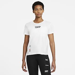Nike Miler Tokyo Kurzarm-Laufoberteil für Damen