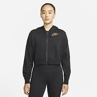 Nike Sportswear เสื้อมีฮู้ดซิปยาวผ้าฟลีซผู้หญิง